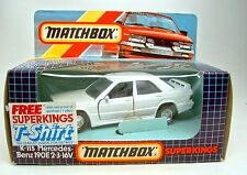 Matchbox Superking K-115 Mercedes Benz 190E 2.3 weiß top in Box