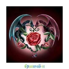 Dragon & Rose 5D Diamond Painting DIY Embroidery Cross Stitch Kit Home Art Decor