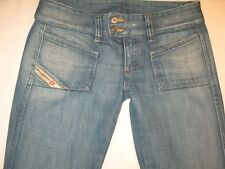 Diesel Jeans Hush Low Bootcut Distressed Wash 881 Size 25