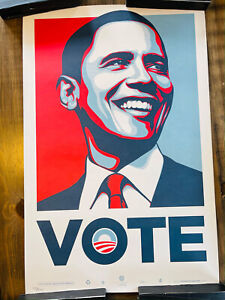 Obama VOTE by Shepard Fairey / Obey Large Poster Print 2008
