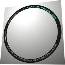 CAMPAGNOLO BORA ULTRA 35 3D CELESTE & DARK REPLACEMENT RIM DECAL SET FOR 2 RIMS