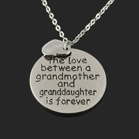 Family Pendant Necklace jewelry Gift The Love Between Grandma and Granddaughter