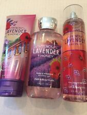 LOT OF 3 BBW FRENCH LAVENDER & HONEY PRODUCTS-NEW