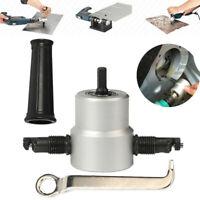 Double Head Sheet Metal Nibbler Saw Cutter Cutting Tool Power Drill Attachment D