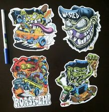 Lot of 4 Dirty Donny Sticker hot rod Big daddy roth rat fink style Van skater