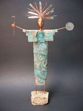 Sculpture Original Southwestern Bronze  Modern Art Native American Shaman Copper