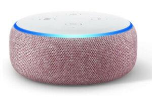 Echo Dot 3ème Génération Enceinte Connectée Alexa Assistant Vocal Tissu Prune