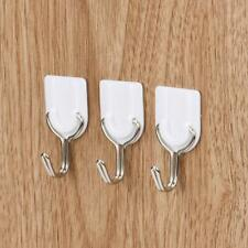6PCS Strong Adhesive Hook Wall Door Sticky Hanger Holder Kitchen Bathroom White