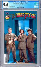 THREE STOOGES THE BOYS ARE BACK #1 CGC 9.6 RARE HTF RETRO COLOR PHOTO COVER 2016
