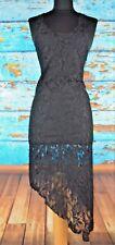 If Six was Nine Maniac Corp Women's Dress Size 2 Sheer Lace Black Asymmetric