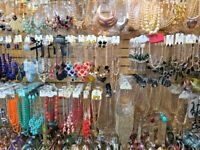 Wholesale Fashion Jewelry Lot Of  100, Necklaces, Bracelets, Earrings, Studs