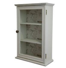 Suffolk shabby chic ivory single glazed shelved wall mounted bathroom cabinet