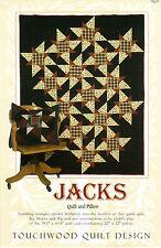 "Touchwood Quilt Designs Piecing Applique Pattern TQ-017 ""Jacks"" Quilt & Pillow"