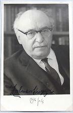 President Of Israel Zalman Shazar Signed Photograph Served 1963 - 1973 ''Rare''
