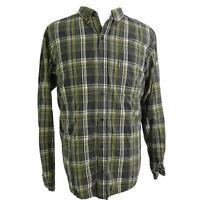 COLUMBIA SPORTSWEAR LONG SLEEVE GREEN PLAID BUTTON DOWN SHIRT MENS SIZE XL