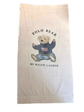 "Vintage 90's Ralph Lauren Polo Teddy Bear Flag Large Beach Bath Towel 35"" X 68"""
