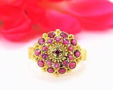 Vintage Handmade 18K Yellow Gold Ring with 1.16 TCW Genuine Rubies, Retail $2995