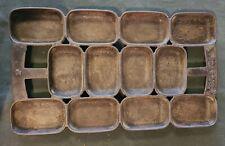 Antique N Waterman Cast Iron Open Frame Gem Pan, Patent 1859