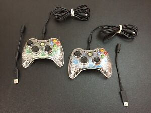 Afterglow Xbox 360 Wired Controller Lot Of 2 With Breakaways TESTED LOOK!!