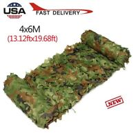 1X Camouflage Netting Camo Army Hide Camping Military Hunting Cover Net Woodland