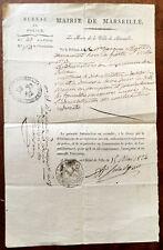 1824 - Wine Licence - Marseille