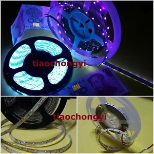 5M 3528 5050 SMD 300 Leds Ultraviolet UV 395nm-405nm Purple LED Strip