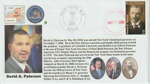 6° Cachets David A. Paterson African-American New York Governor