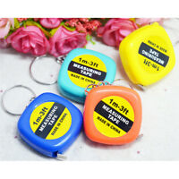 2x Mini Retractable Tape Body Measure Ruler Sewing Tailor Pocket Flat Handy JO