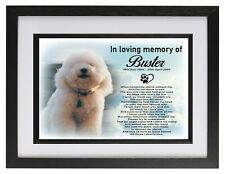 Bichon Frise dog/pet Personalised photo frame cremation urn keepsake for ashes