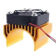 RC 540 550 Motor Alum Heat Sink 40x36mm Cooling Fan 5-7.4V HSP 7020 Gold Part