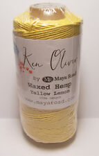 100m Waxed Hemp Yellow Lemon Cord String for Jewelry Making, Art & Craft