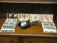 Vintage Keystone Stereoscope Viewer with 14 Photos [6788]