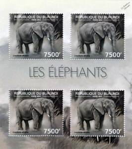AFRICAN ELEPHANT / Africa Wild Animal Stamp Sheet #7 of 7 (2012 Burundi)