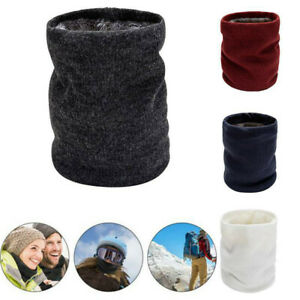 Neck Warmer Tube Winter Knitted Scarves Thermal Fleece Snood Unisex Outdoor