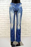 DIESEL Donna Jeans Vita Alta Taglia 27 Chino Pantalone Gamba Dritta Pants Women