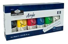 Pack de 6 x 75ml tubes peinture et Palette artiste Royal & Langnickel