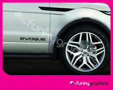RANGE ROVER EVOQUE LARGE STICKERS, DECALS, GRAPHIC x2 (Colour choice)