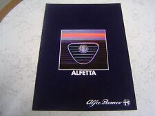 Catalogue publicitaire Alfa roméo Alfetta 1983 20 pages