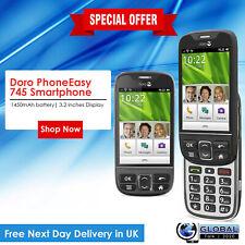 New Doro PhoneEasy 745 Smartphone Sim Free Unlocked - Black - UK