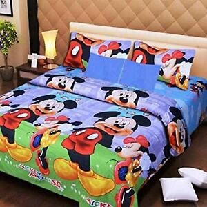 100% Cotton Double BedSheet for Double Bed With 2 Pillow Covers Set, Queen Size