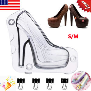 3D High Heel Shoes Chocolate Mold DIY Cake Candy Cookies Maker Mould Decor S/L
