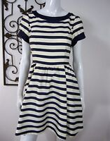 TED BAKER LONDON JUST FOR YOU BOAT NECK A LINE DRESS SIZE S SMALL BLUE WHITE