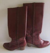 Tall Dex Dexter 8.5 M Chestnut Brown Leather Boots Usa Braided Detail Campus