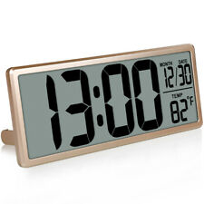 TXL 13.8 Large Digital Wall Clock Jumbo Digital Alarm Clock Oversized LCD Displa