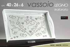 VASSOIO IN LEGNO TRAFORATO 40X26x6CM MOG-666230