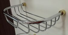 Shower Basket Chrome Brass Bathroom Accessories Wall-Mount Metal Caddy
