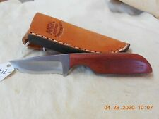 ANZA  HANDMADE FIXED  BLADE KNIFE PADAUK  HANDLE #872 MODEL 8-1