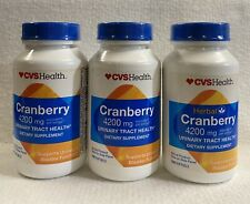(3) CVS Cranberry 4200 mg 100 Softgels bottles-Urinary and bladder function