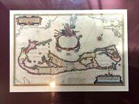 Bleau Mappa Astivarum Atlas Major 1665 Antique Reprint Crease & Plate Marks EAC