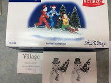 Snow Village Access.  Set of 3~ Sled & Skis, A Tree for Me, Holiday Reindeer Run